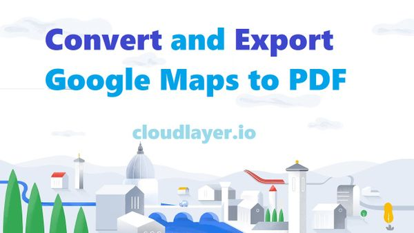 Export Google Map to PDF